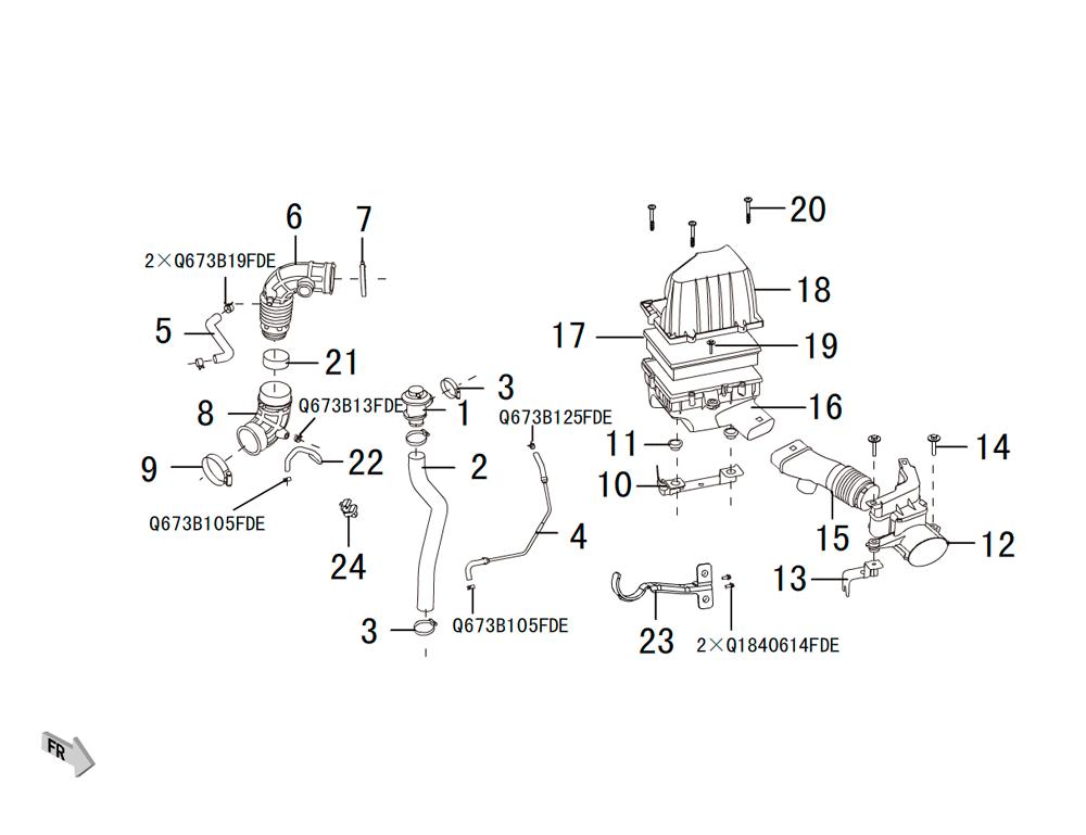 воздушный фильтр 4G15B