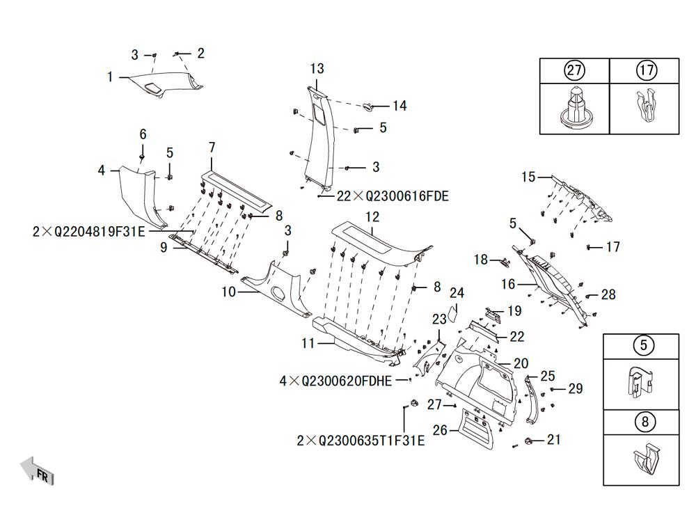 внутренние трим панели