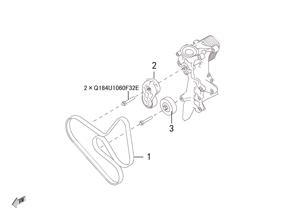 4C20 - ремень и ролики