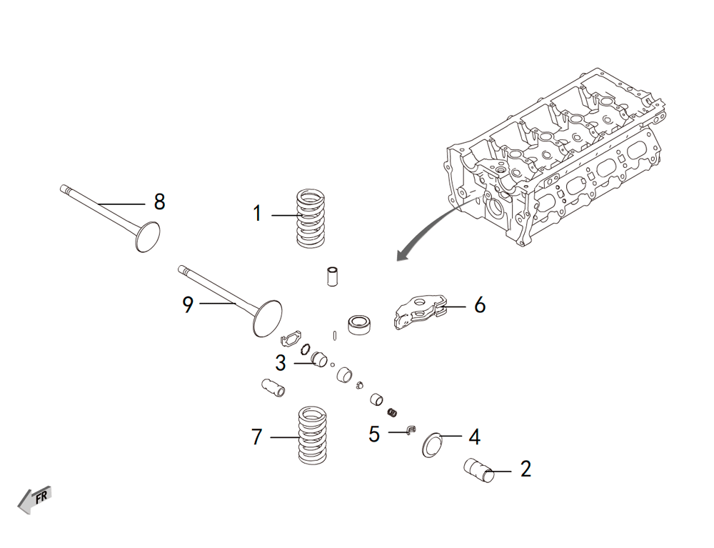 4C20 - клапаны