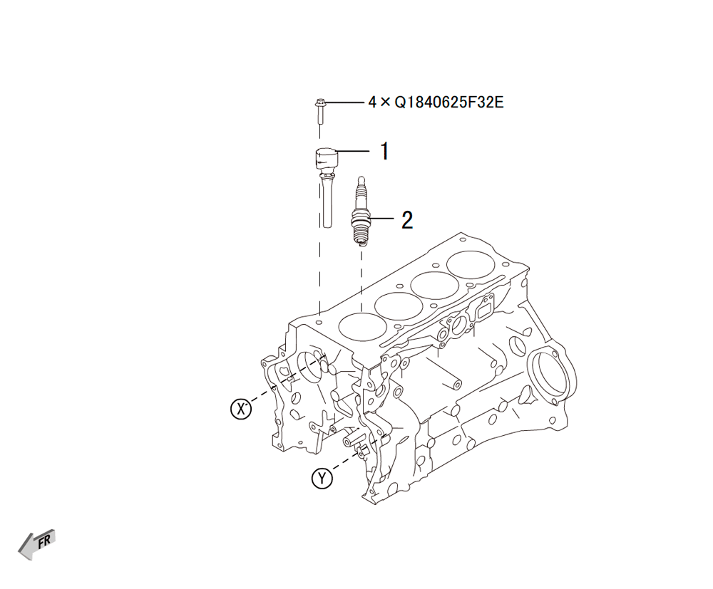 4C20 - катушка зажигания, свечи