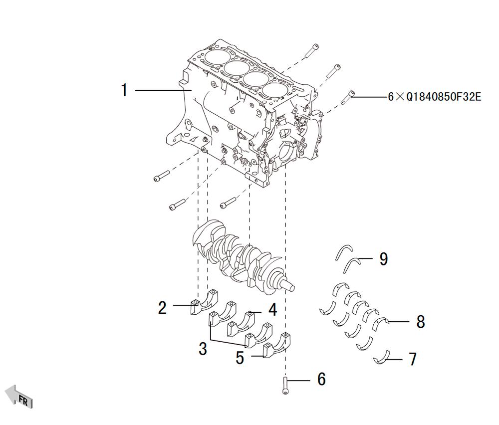 4C20 - блок цилиндров 3