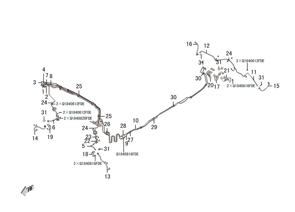 трубы тормозной системы