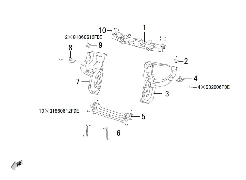 передние штампованные части 1