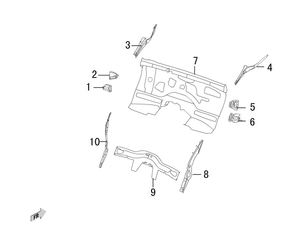 передние штампованные части 3