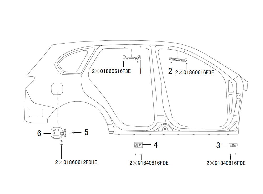 боковая панель, правая сторона