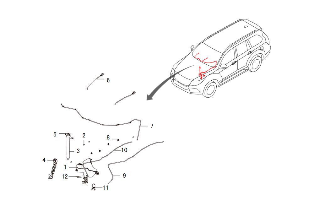 форсунка омывателя пятого стекла