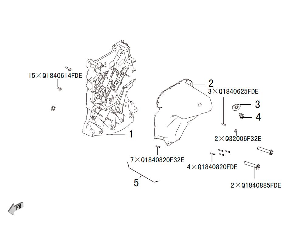 корпус масляного насоса