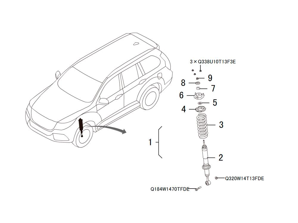 передний амортизатор