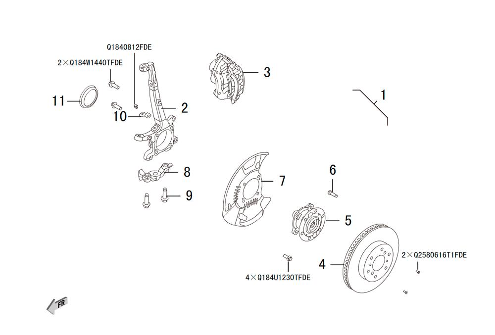передний поворотный кулак