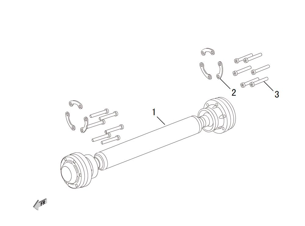 передний карданный вал