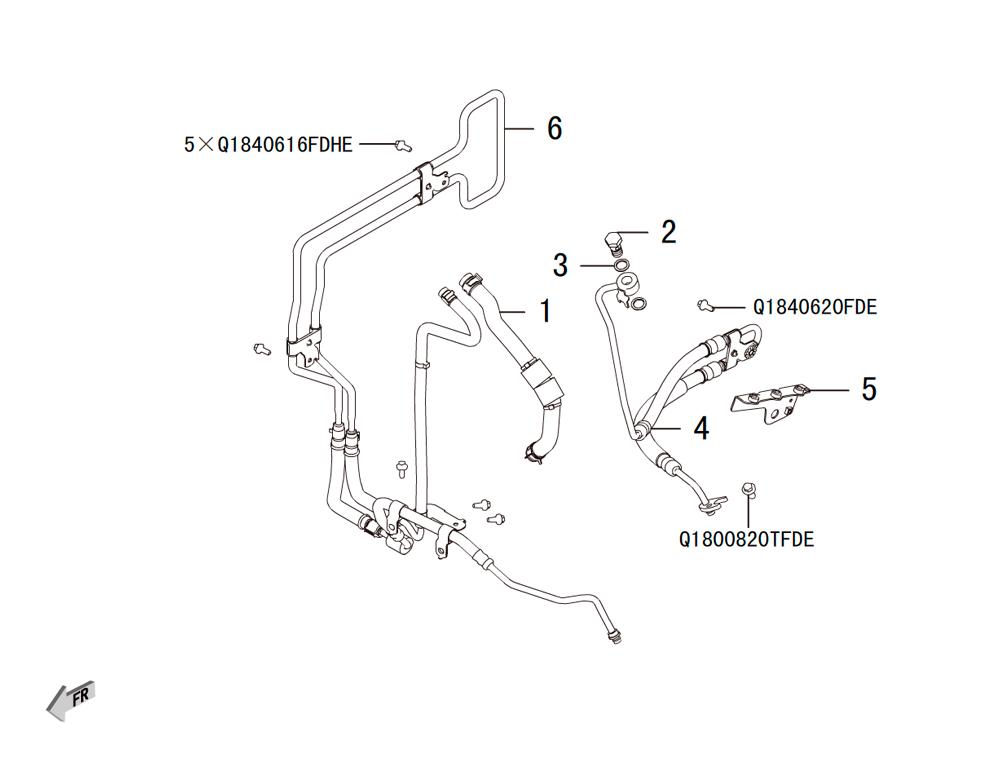 трубопровод гидроусилителя руля