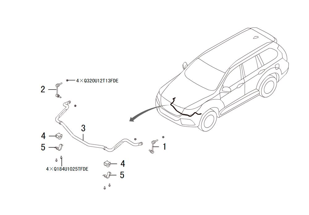 передний стабилизатор