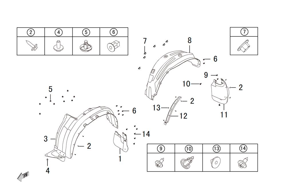 защита колёсных арок