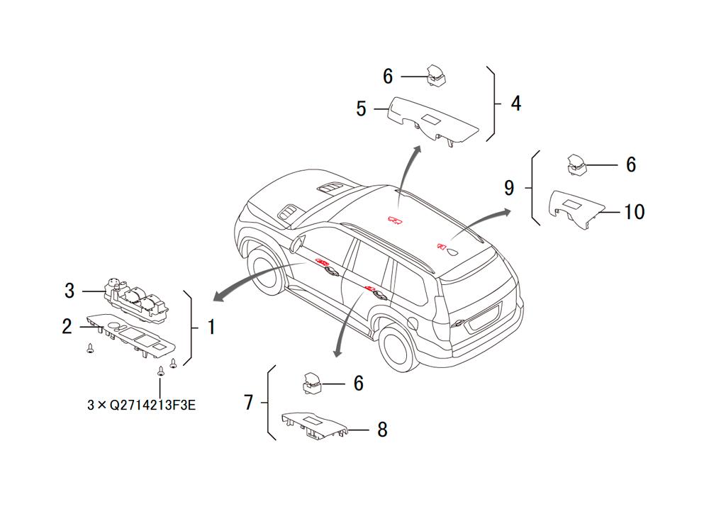 модуль управления стекло подъёмниками