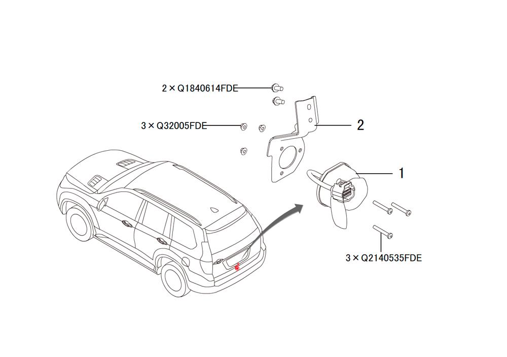 трейлер кабельная розетка