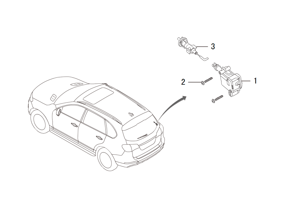 механизм запирания люка бензобака