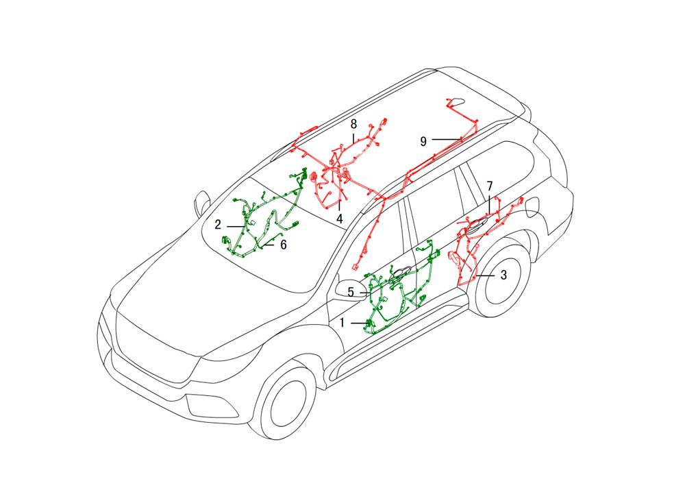проводка- инструментальная панель