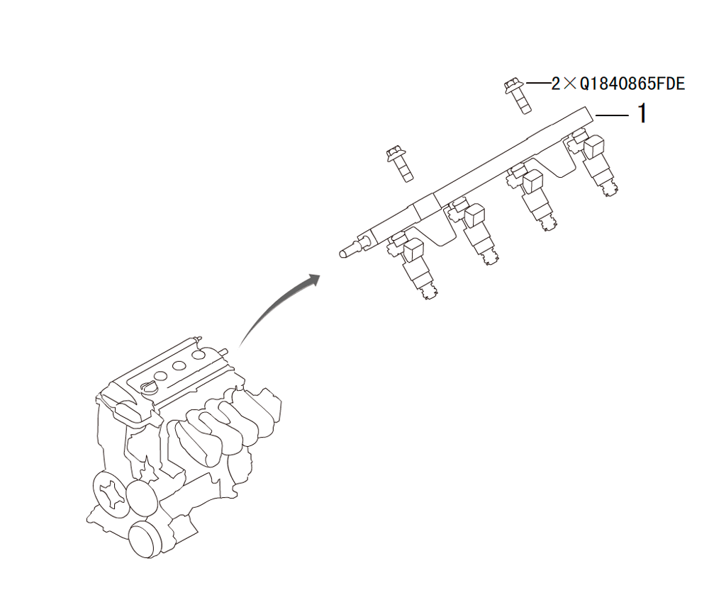 FUEL SUPPLY SYSTEM INSTALLED ASSEMBLY
