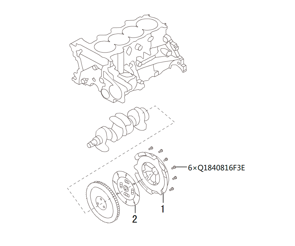 CLUTCH INSTALLED ASSEMBLY