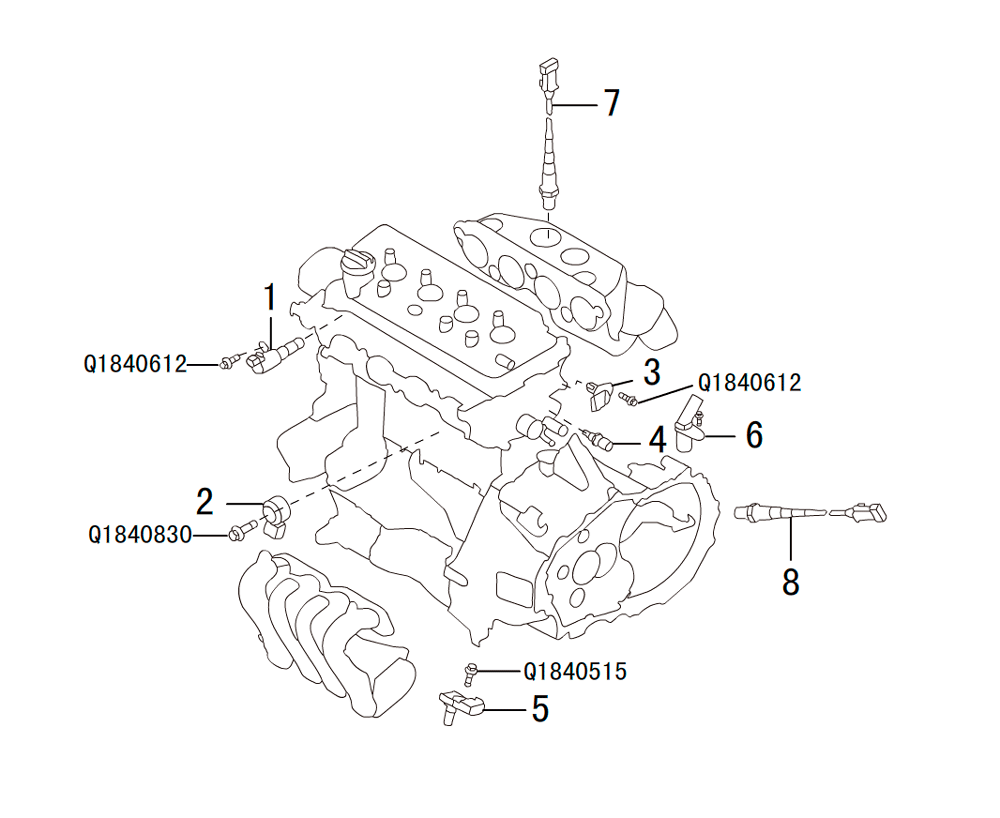 ENGINE ELECTRONIC CONTROL SYSTEM SENSOR