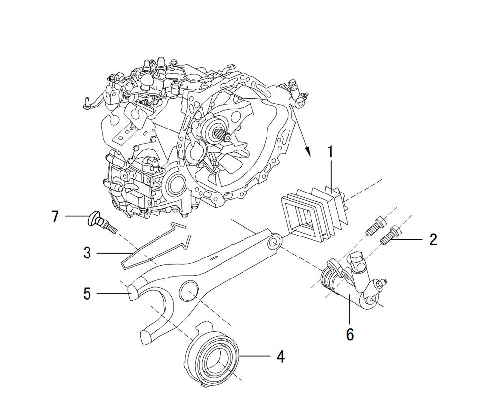 Механизм расцепления сборочного узла (0011A)