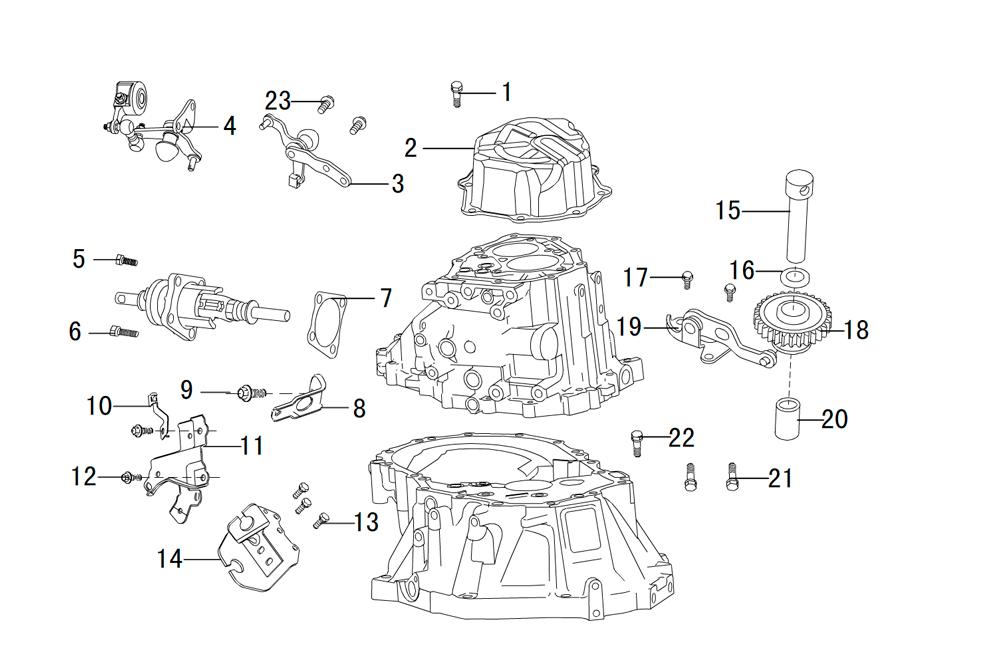 корпус кпп (вспомогательные части) вид2
