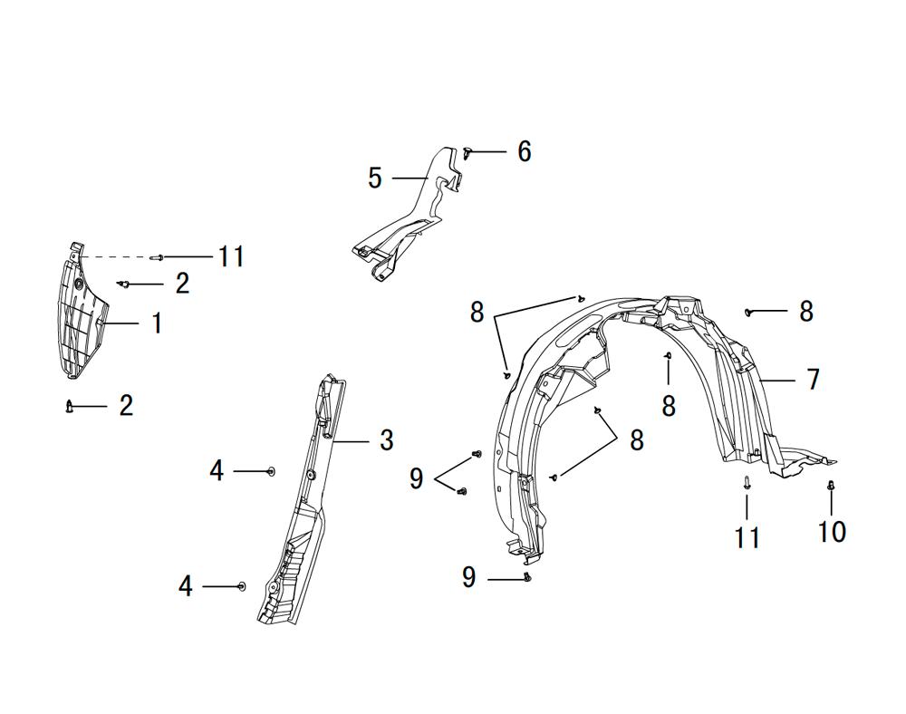 накладки в колёсные арки