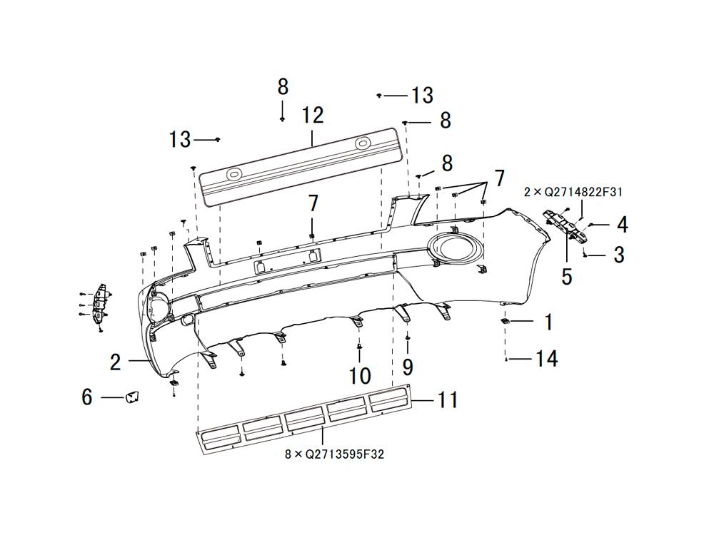 передний бампер 2