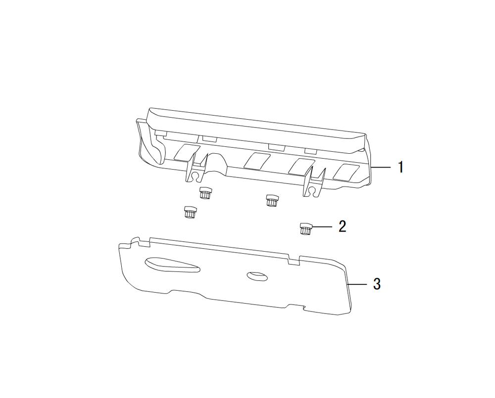 трим панель двигателя