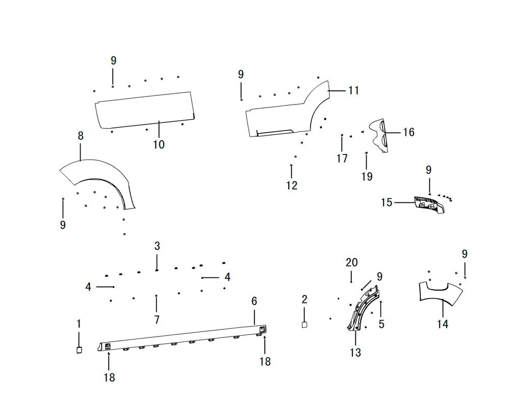 накладки на пороги панели обивки 2