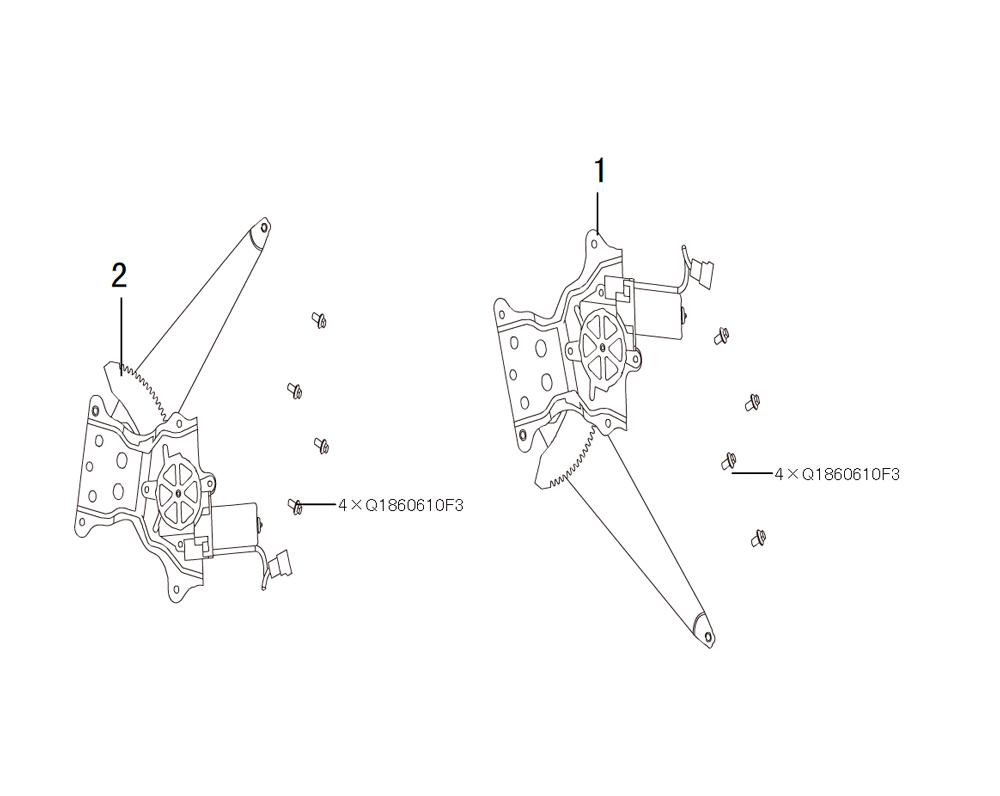 механизм поднятия стекла