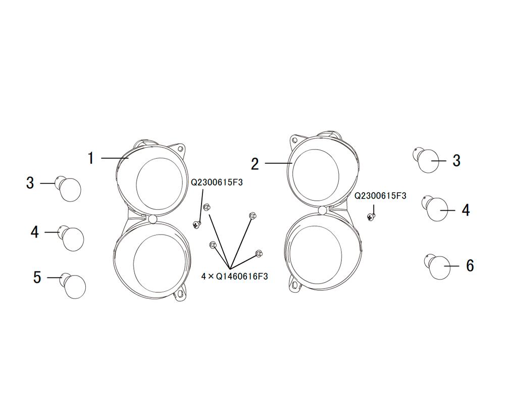 задние комбинированные фонари