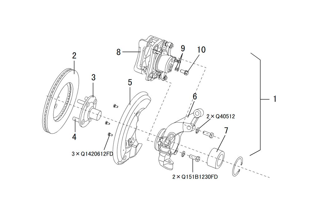 поворотный кулак и тормозная система