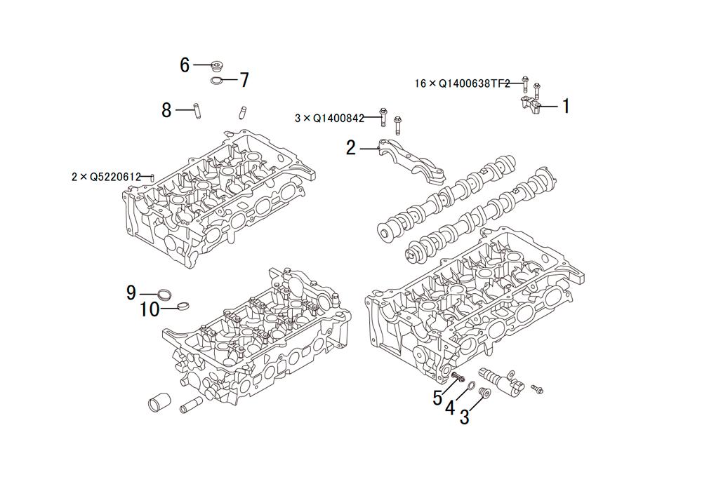 головка блока цилиндров 2
