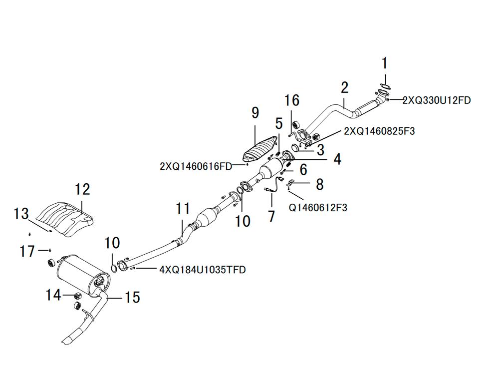 система вывода отработанных газов 1