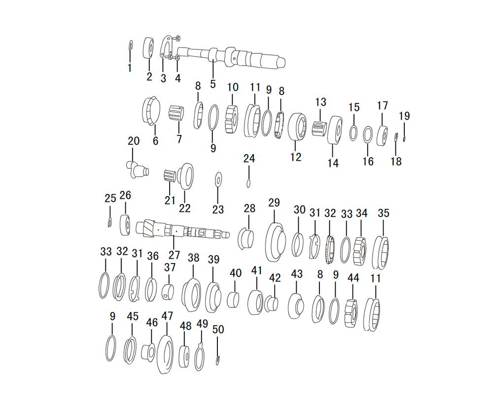 первичный    вторичный вал мкпп SH78Z